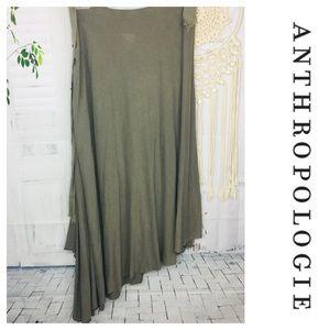 Spool Anthropologie Green A-Symetrical Boho Skirt